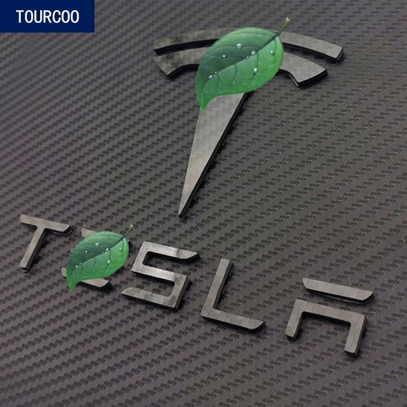 Для Tesla Model 3 Real Carbon Fiber Передняя Задняя эмблема значок наклейки для автомобиля Стайлинг Модификация аксессуары