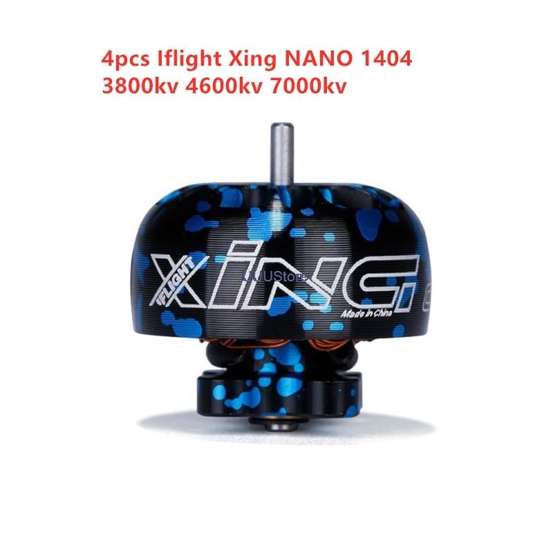 4pcs/Lot Iflight Xing 1404 3800kv 4600kv 7000kv 2-4s Brushless Motor Compatible Hq 3x3x3 Propeller For Fpv Rc Racing Drone Part