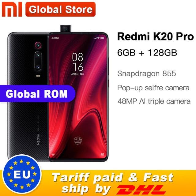"""العالمي ROM شاومي Redmi K20 برو 128 جيجابايت ROM 6 جيجابايت RAM الهاتف المحمول ثماني النواة سنابدراجون 855 الجبهة 48MP كاميرا خلفية 6.39 """"4000 mAh"""