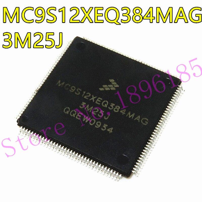 1PCS MC9S12XEQ384MAG 3M25J QFP144 MC9S12XEQ384 Auto ic Per La NAVIGAZIONE BMNW passo spazio modulo vulnerabili CPU in bianco