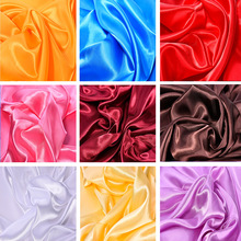 Solid Color Soft Satin Fabric Wedding Party Decoration Box Lining DIY Clothing Sewing Background Accessories Wholesale