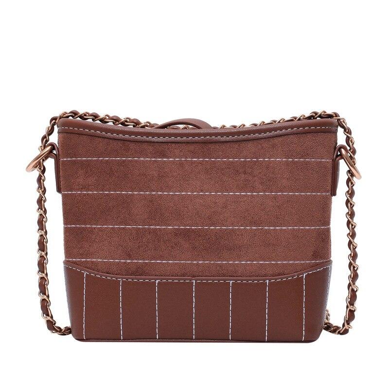 Bolso de cadena de mujer 2019 nuevo diseño de moda bordado línea multifunción bolso de mano elegante Scrub bandolera