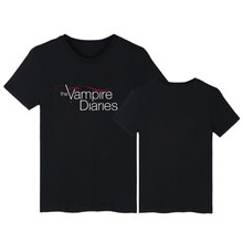 The Vampire Diaries T Shirt Summer Casual Short Sleeve Cotton T-shirt Men Women Elena/Stefan/Damon Tee Shirts Streetwear Tops