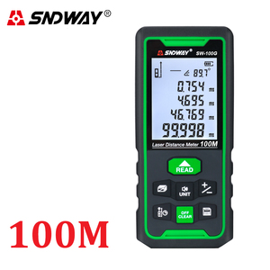 Image 4 - Sndway medidor de distância a laser faixa medida 120m 100m 80 70m 60 50m 40m laser roleta telêmetro caça localizador régua