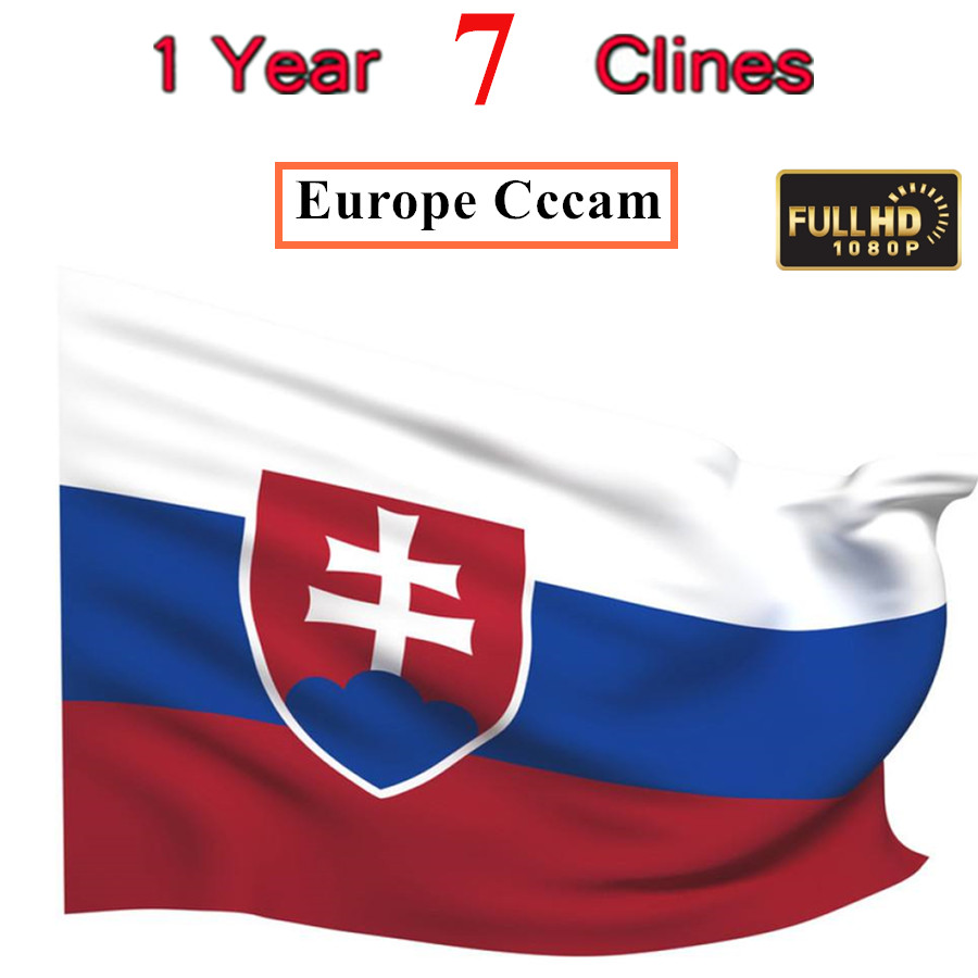 Special For Slovakia Europe HD 2 Year CCCam Spain Portugal Germany Poland Satellite Tv Receiver 7Clines For DVB-S2 V7s V8 V9 BOX