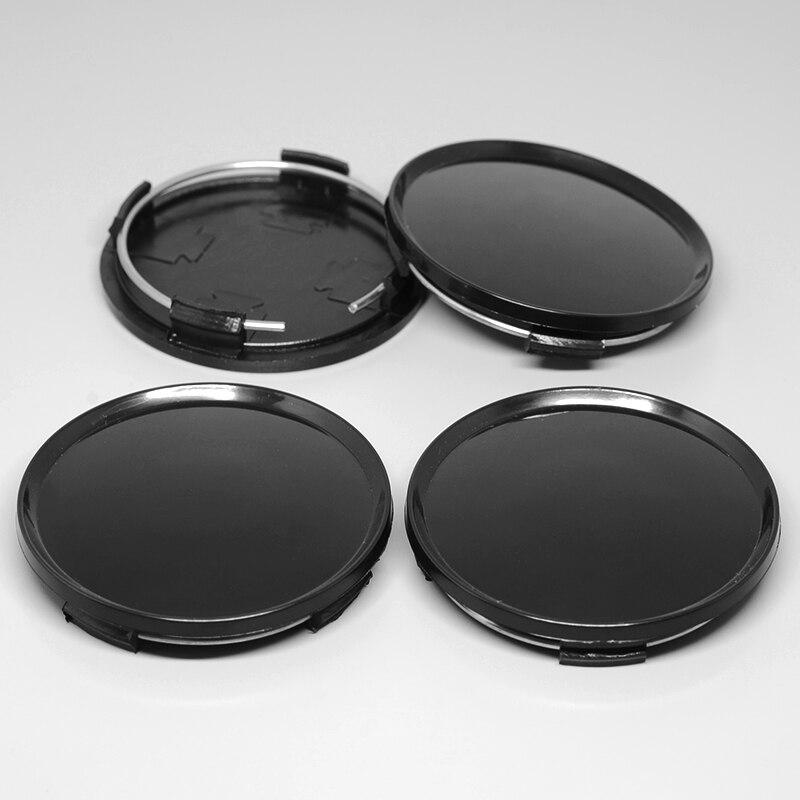 Set of 4 2.5 All Black Logo Land Rover Wheel Center Caps 63MM Fit Range Rover