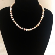 YKNRPBH TOP Quality Baroque Pearl Necklace 925 Sterling Silver Buckle Chain Weddings Fine Jewelry