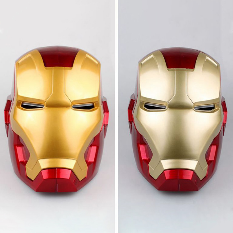 1:1 High Quality Iron Man Adult Motorcycle Helmet Cosplay Mask Touch Sensing Mask With LED Light Collectible Model Toy
