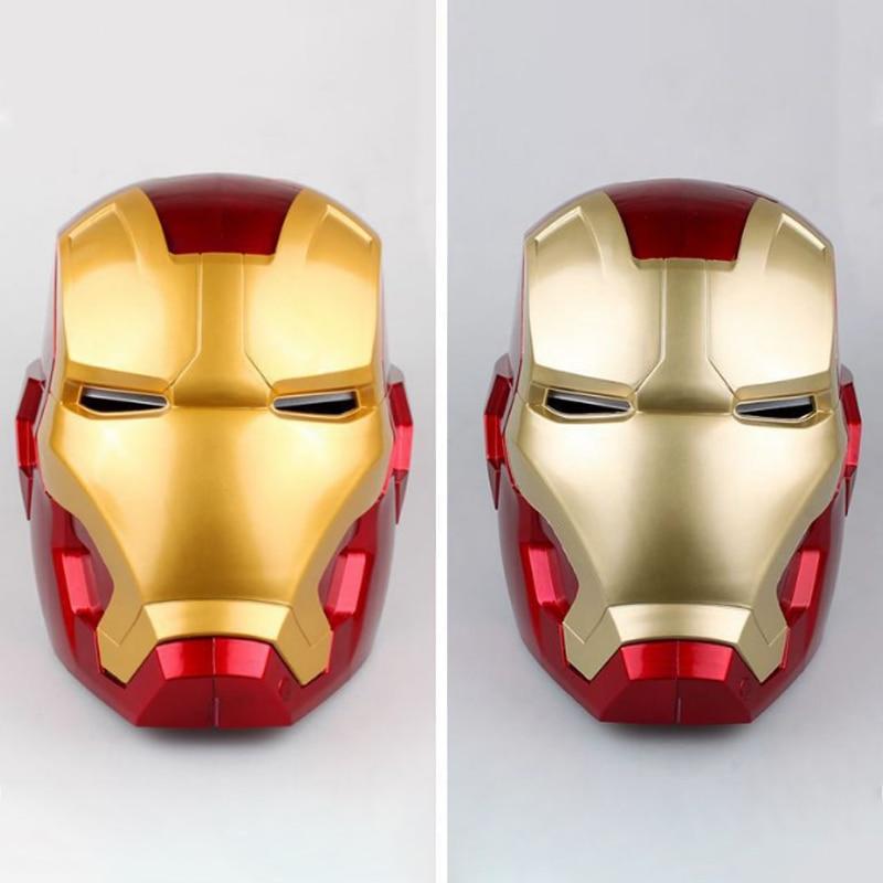 1:1 haute qualité fer homme adulte moto casque Cosplay masque tactile détection masque avec lumière LED modèle de collection jouet