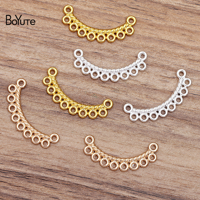 BoYuTe (100 Pieces/Lot) 30*6MM Metal Alloy Connector Loops DIY Jewelry Accessories Hand Made Materials