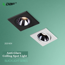 [DBF]2020 New Anti-glare LED Embedded Ceiling Spot Light 7W 12W Square Ceiling Recessed Spot Light for Living room Home Aisle