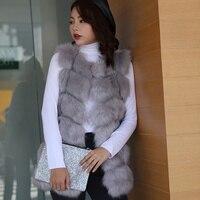Women's Winter Faux Fur Sleeveless Warm Vest Plaid Black Waistcoat Women Jacket 2019 Spring Elegant Vests Dropshipping