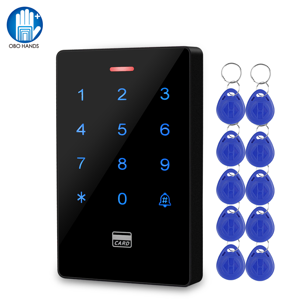 IP68 Waterproof Access Control System Outdoor RFID Keyboard WG26/34 Access Controller Reader Rainproof 10pcs Key fobs for Home