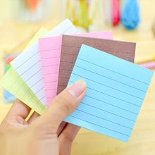 1PCS Office stickers Stationery Sticky notes paper Square Soild Color Pad Point It Marker Sticker Paper stationery for school