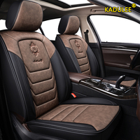 KADULEE leather car seat cover For skoda kodiaq rapid spaceback octavia 2012 fabia 2 felicia KAROQ accessories car seat covers