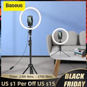 Baseus 10/12inch LED Selfie Ring Light Dimmable LED Ring Lamp Photo Video Camera Phone Light Ringlight For Live Fill Light Lamp