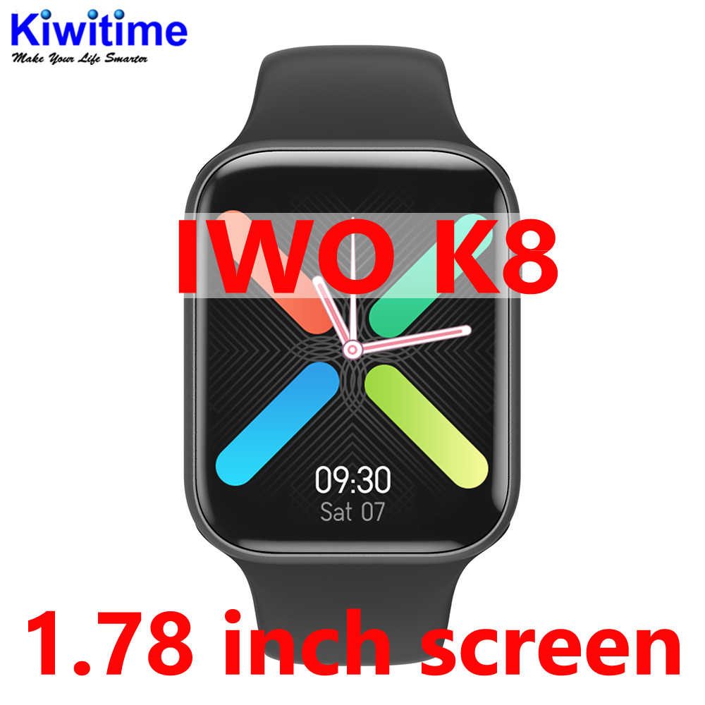 KIWITIME NEW IWO K8 Bluetoth Smartwatch 1.78 pollici IWO 12 Ultra Caso per iOS Android phone Heart Rate temperatura PK IWO MAX