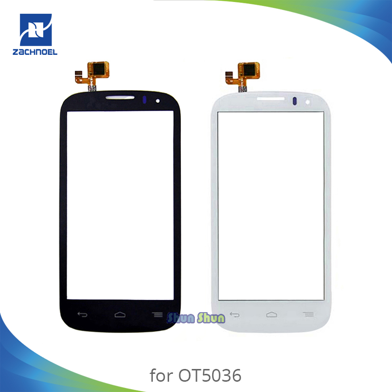Screen for <font><b>Alcatel</b></font> One Touch Pop C5 <font><b>5036D</b></font> OT5036 OT5036D 5036 Touch Screen Digitizer Sensor Front Glass Lens Panel White Black image