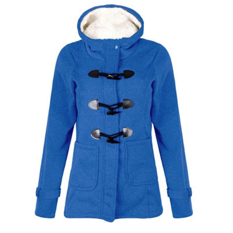 Women's Jacket 2019 Autumn Ladies Coat Coat Zipper Horn Buckle Coat Jacket Female Hooded Coat Casaco Feminino Ladies Coat