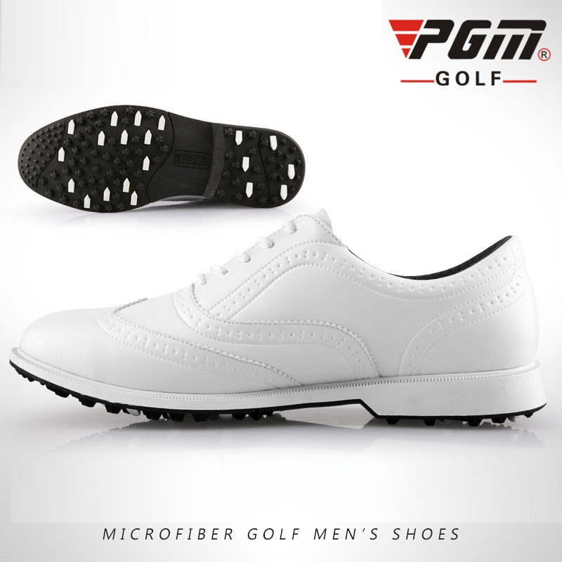 Pgm Leather Golf Shoes Mens Waterproof Golf Shoes Men England Style Anti-Skid Breathable Sneakers Casual Bussiness Golfs Shoes