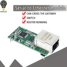 Fs100p USR-TCP232-T2 minúsculo serial ethernet conversor módulo serial uart ttl para ethernet tcpip módulo suporte dhcp e dns