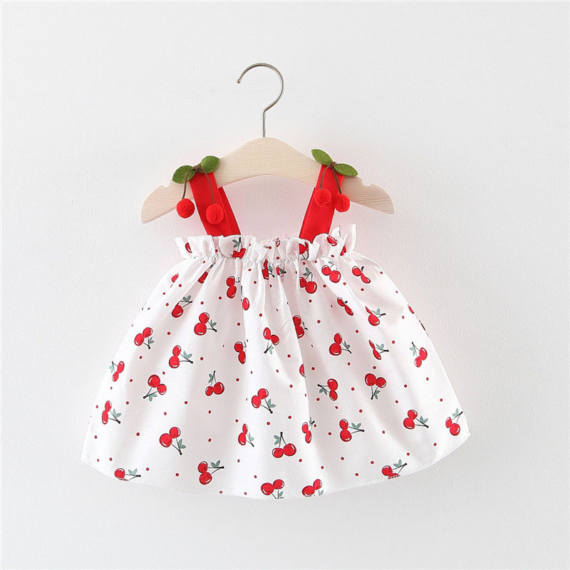 Summer Baby Girls Dress Cotton Print Sleeveless Baby Girl Clothes Princess Dress 1st Birthday Party Dress Infant Toddler Clothes