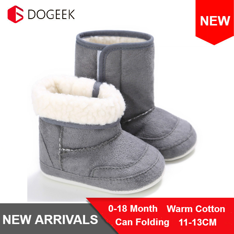 DOGEEK Newest Baby Toddler Shoes Winter 0-1 Years Old Multicolor Shoes Boy Girl Boots Non-Slip Bottom Warm Snow Boots Baby Shoes