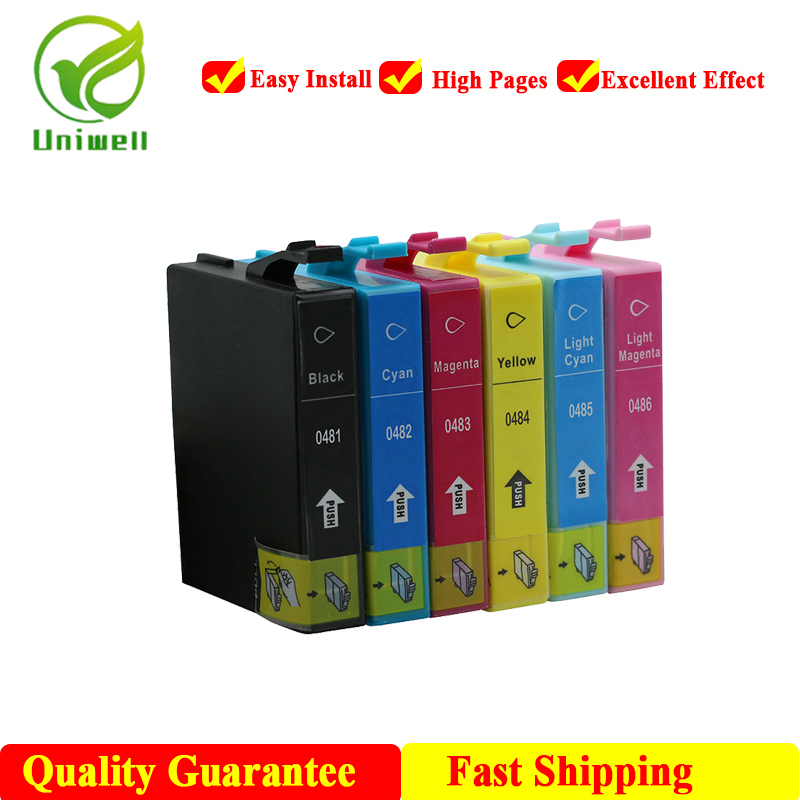 T0481 New compatible ink cartridge For Epson 0481 Inkjet Printer R200 R220 R300 R300M R320 R340 RX500 RX600 RX620 RX640 image