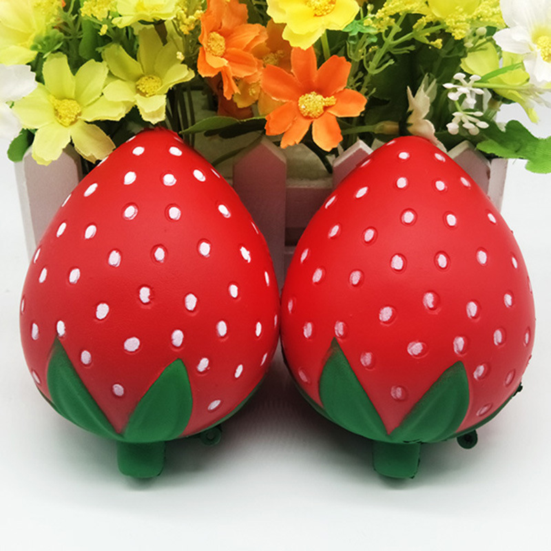Squeeze Toys Squishy Simulation Of Colored Strawberries Toy With Aroma Slow Rising Stress Relief Toy For Baby Kids Xmas Gift