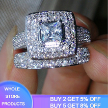 With Certificate Luxury Brand Silver 925 Jewelry Wedding Bands Inlay 139pcs Small Diamond Zircon Engagement Ring Set For Women cheap yanhui 925 Sterling Third Party Appraisal Fine Prong Setting Rings See Pics CER149 ROUND Classic S925 Gift Ring Box with certificate and Polishing Cloth