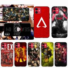 CUTEWANAN Shooting game Apex Legends Black Soft Shell Phone Case Capa for iPhone 11 pro XS MAX 8 7 6 6S Plus X 5S SE XR case cutewanan item triathlon ironman black soft shell phone case capa for iphone 11 pro xs max 8 7 6 6s plus x 5s se 2020 xr case