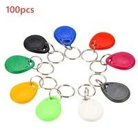100pcs/Lot Rfid Tag Key Ring Card 125Khz Copy Cards Rewritable T5577 EM4305 Rfid Copy Card Rewrite Keyfobs ID Card Random Color