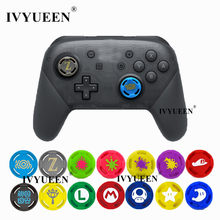 IVYUEEN 2 Pcs Silikon Analog Thumb Stick Grip Caps untuk Nintend Switch NS PRO Controller Stick Cap Skin Joystick Cover(China)