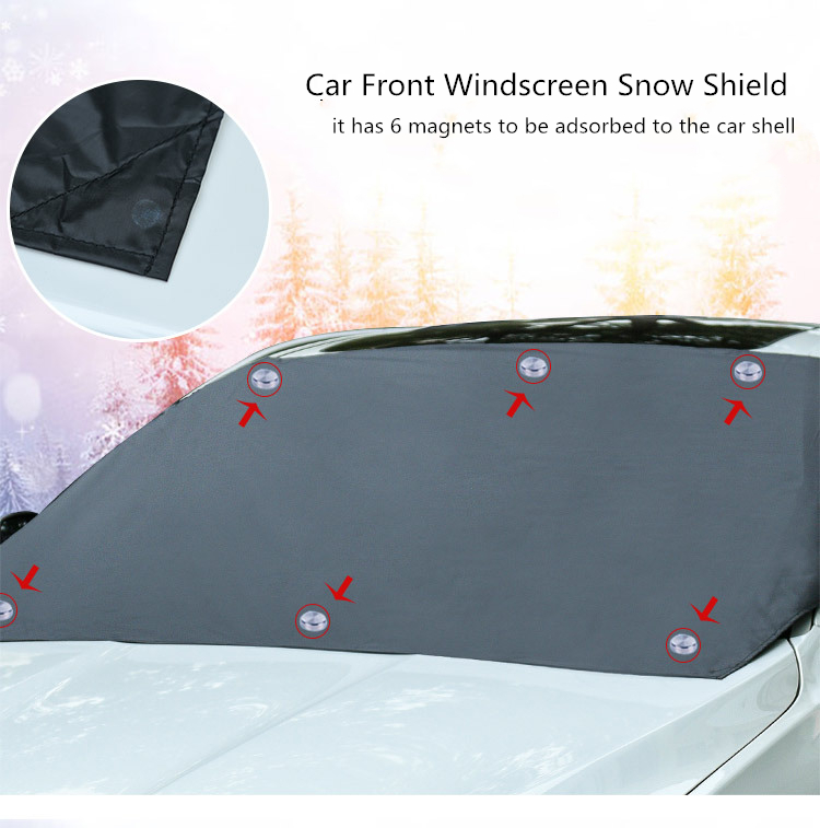 Car Magnetic Sunshade Cover 210 120cm Car Windshield Snow Sun Shade Waterproof Protector Cover Car Front Windscreen Cover