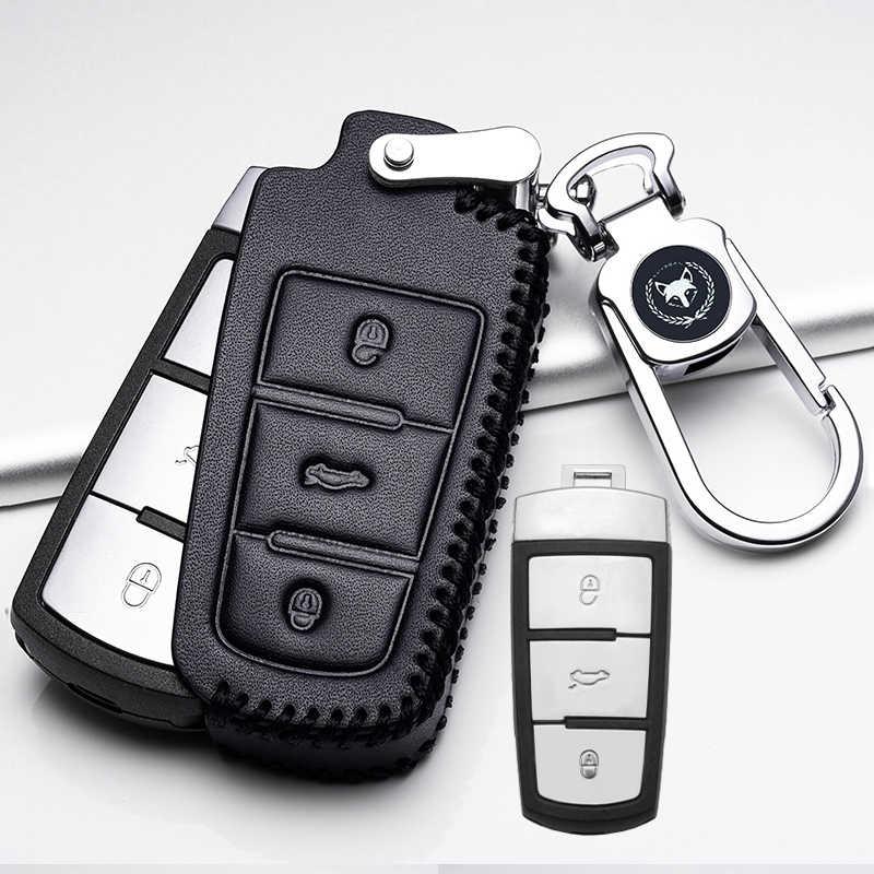 Кожаный чехол для автомобильных ключей, чехол для ключей, пульт дистанционного управления для Volkswagen VW серии Passat B7 Magotan CC Portect Leon, автомобильный продукт