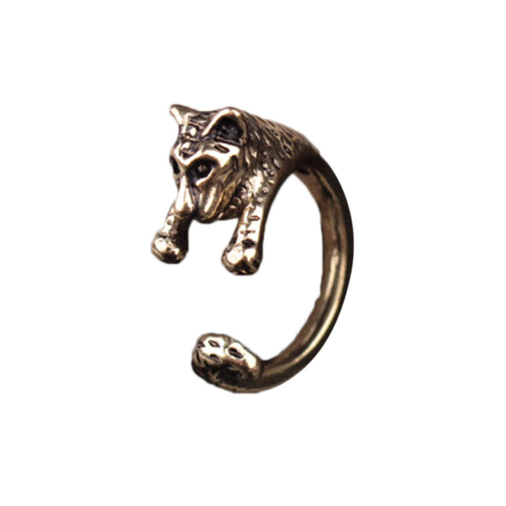 2016 New Arrival Hot Sale adjustable metal retro Tiger Animal Ring Jewelry 2 Colors Free Collocation Drop  Shipping