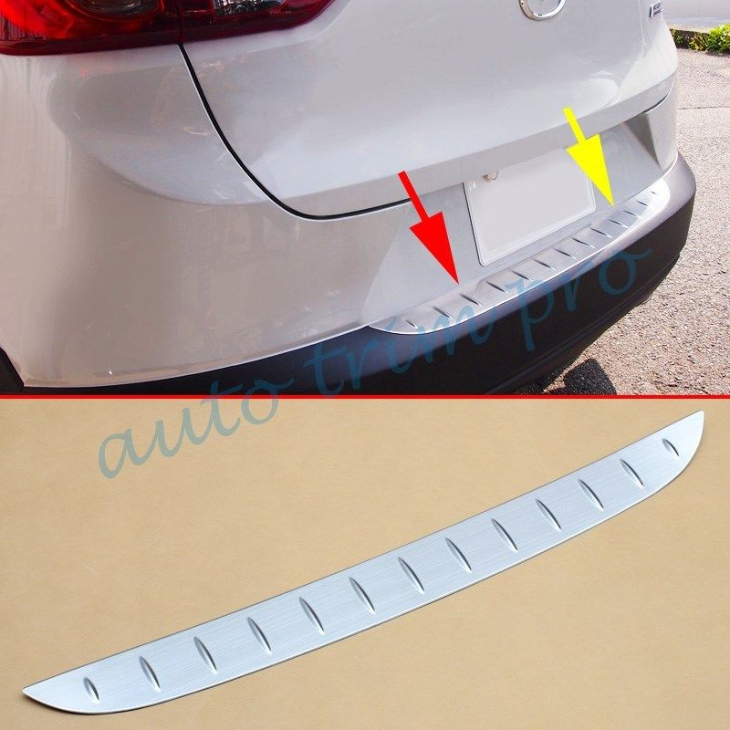 Rear Gate Bumper Sill Scuff Protector Stripe Trim Fit For <font><b>Mazda</b></font> CX-3 <font><b>CX3</b></font> 2016 2017 2018 2019 <font><b>Accessories</b></font> Stainless Steel Parts image