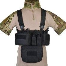 Cs jogo de guerra tcm rig airsoft tático, colete militar, bolsa coldre de peito, sistema de molle, cintura masculina, nylon