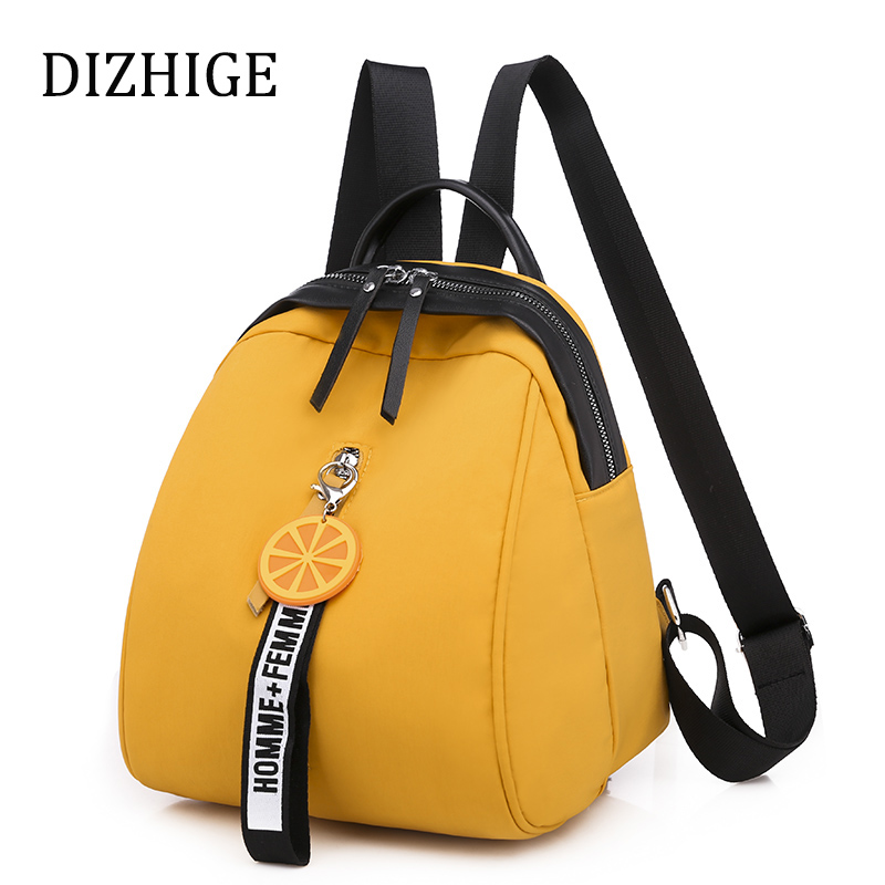 Designer Yellow Backpacks Women Waterproof Oxford Shoulder Bag Small Patchwork School Bags For Teenage Girls Mochila Feminina