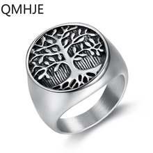 Мужское и женское кольцо lucky tree life с уплотнением серебристого