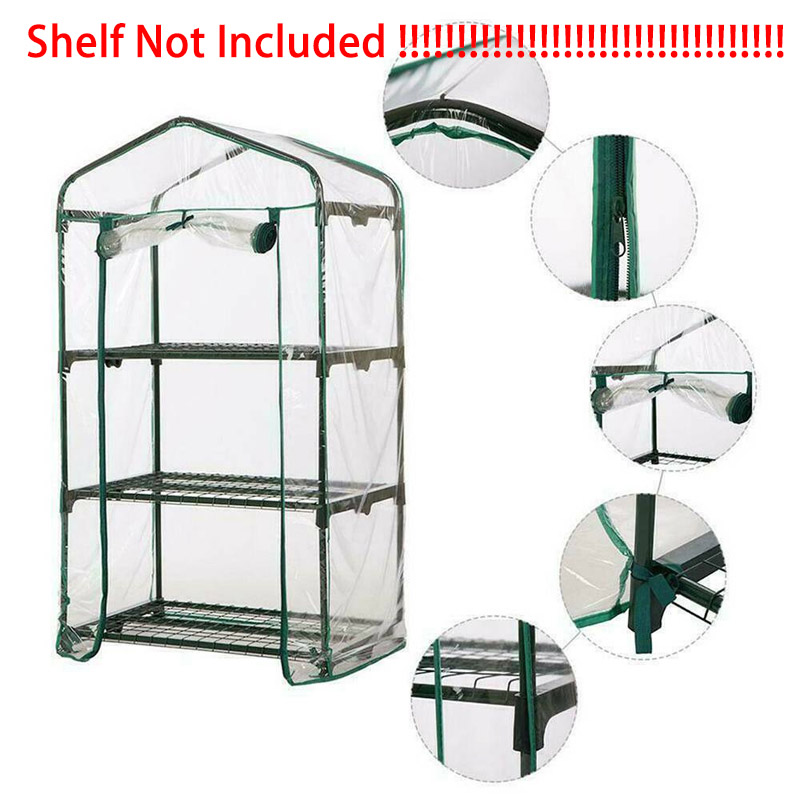 2/3/4/5 Tier PVC Garden Greenhouse Household Plant Greenhouse Shed Mini Garden Greenhouse Cover Growing Tent (Without Iron Stand