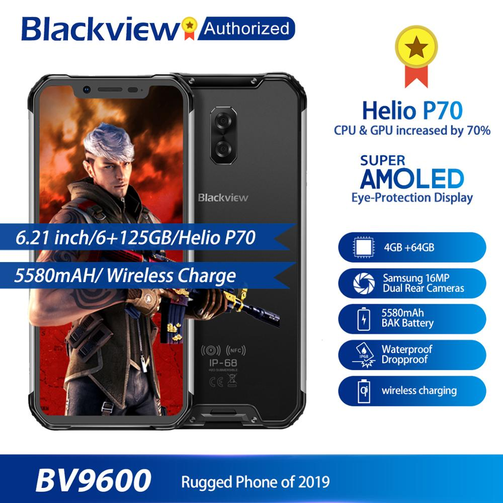 "Blackview BV9600 Rugged Waterproof Helio P70 Global 4G Mobile Phone 6.21"" Android 9.0 Smartphone 4GB RAM 64GB MT6771T 5580mAh"