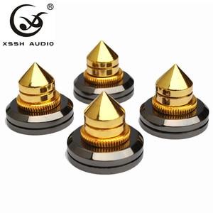 Image 3 - XSSH 8 cái Thép Chắc Chắn Loa Spike Cô Lập Chân Đồng Nón CD Bộ Khuếch Đại Đế âm thanh HIFI