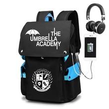 The Umbrella academy Backpack Students School Bags Pattern Girls Boys Children's Schoolbag Mochilas Teenage Usb Charging Bookbag