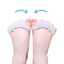 4 шт. = 2 пары детских носоупоров силиконовый выпрямитель для костей корректор вальгусной деформации Уход за ногами для детей