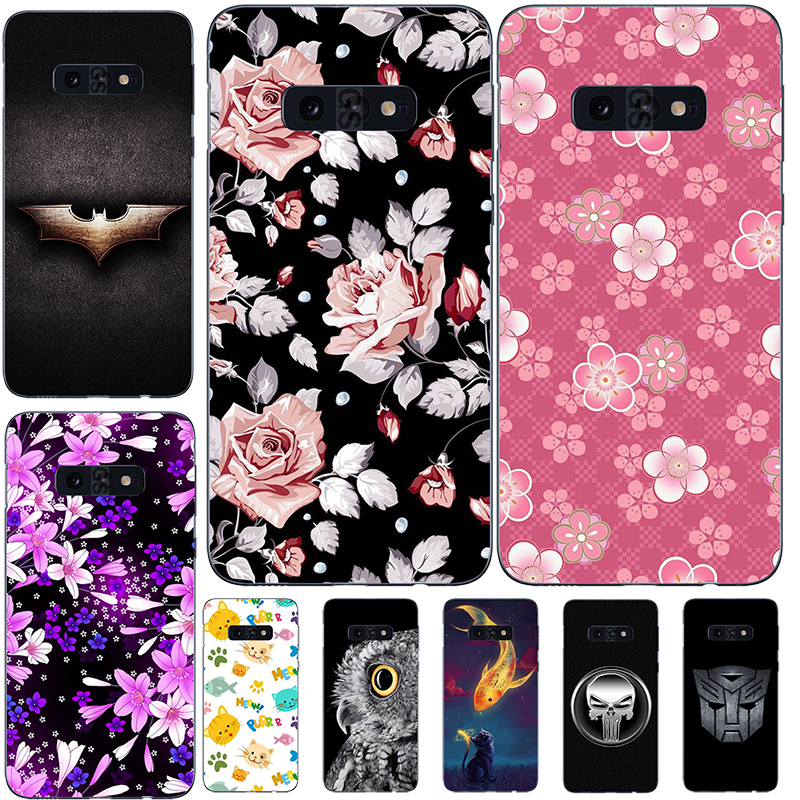 Soft Silicone Printed Cell Phone Case Cover For Samsung Galaxy S10e G9700 Colorful Back Cover cute Cartoon Flower pattened Case image
