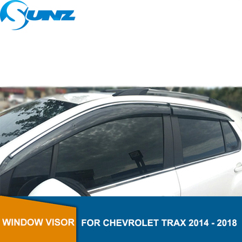 Side Window Deflectors For Chevrolet TRAX 2014 2015 2016 2017 2018  Window Visor Vent Shades Sun Rain Deflector Guard SUNZ window visor vent shades sun rain guard for toyota prado fj120 2003 2009