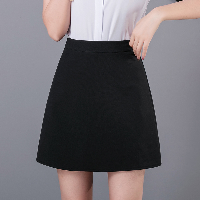 One-Piece Autumn And Winter New Style Simple Generous Fashion Black And White With Pattern Wear Skirt WOMEN'S Dress S