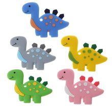 Динозавр ребенок прорезыватели кулон ожерелье аксессуар BPA бесплатно силикон жевать игрушки