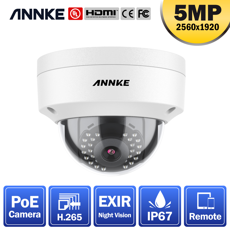 ANNKE – caméra de Surveillance dôme C500 PoE 5MP Super HD, étanche IP67, avec lentille de 4 mm et Vision nocturne EXIR de 100 pieds